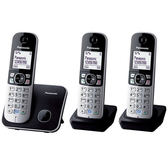 Panasonic 國際牌 KX-TG6813TW DECT 數位無線電話 ( 黑) 公司貨保固2年 買就送USB隨行燈