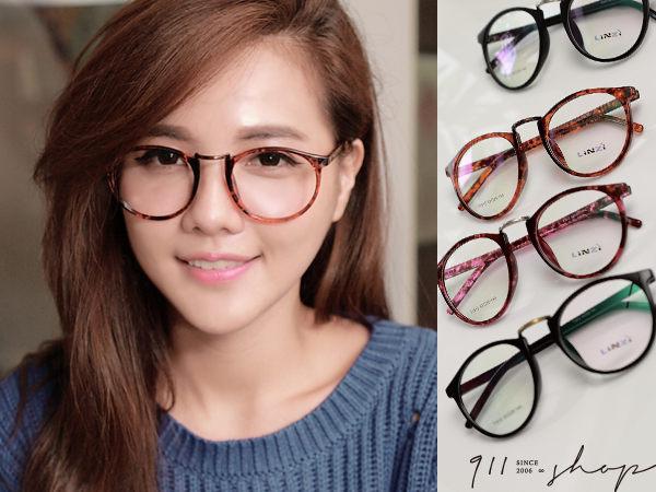 XOXO.TR90塑膠鈦MIX金屬大圓框光學配鏡框眼鏡【p628】*911 SHOP*