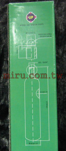 【西高地水族坊】UP雅柏刺針式二氧化碳CO2拋棄式鋼瓶95g*1入