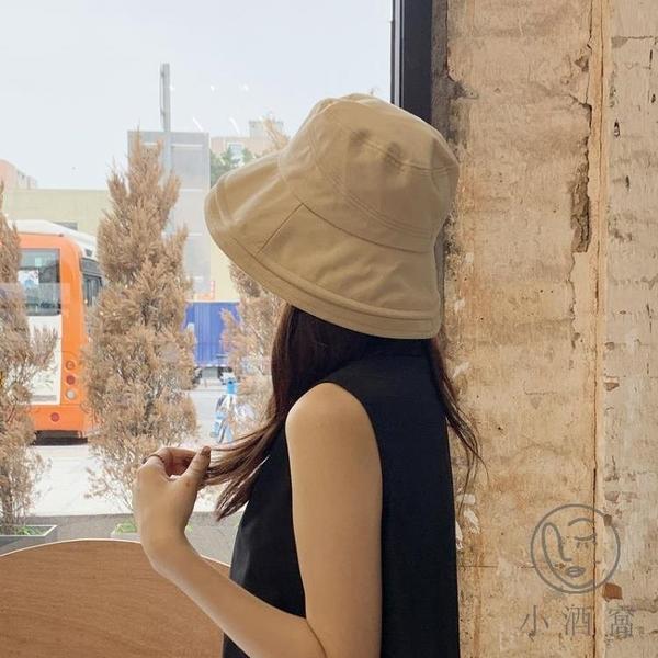 日系文藝遮臉太陽帽漁夫帽女百搭潮大檐防曬遮陽帽【小酒窩服飾】