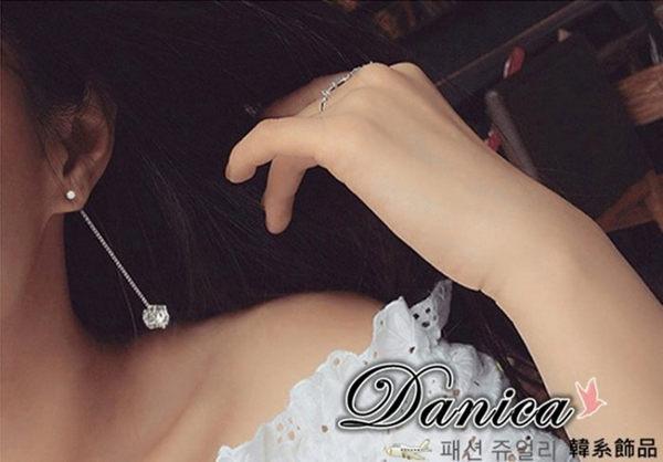耳環 現貨 韓國氣質甜美百搭 爆閃 皇冠 立體 魔球 流蘇耳環 S92204 批發價 Danica 韓系飾品
