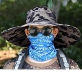 夏季遮陽帽男草帽登山帽大檐漁夫帽防曬帽戶外釣魚帽太陽帽帽子男