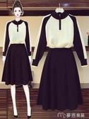 大碼套裝大碼女裝新款胖妹妹顯瘦毛衣遮跨遮肚連衣裙微胖穿搭兩件套裝 麥吉良品YYS