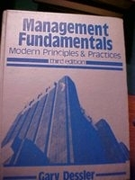 二手書博民逛書店《Management fundamentals : moder