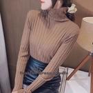 依Baby 針織衫 堆堆高毛衣打底衫內搭秋冬裝新款百搭修身長袖針織衫