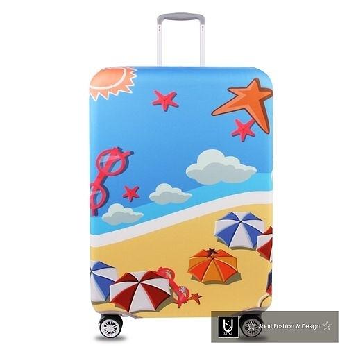 【US.STYLE】海灘度假26吋旅行箱防塵防摔保護套
