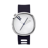 【FILA 斐樂】月蝕系列簡約風方形腕錶-個性黑/38-162-103/台灣總代理公司貨享兩年保固