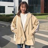 春裝女裝韓版復古工裝BF風寬鬆休閒風衣學生中長款長袖開衫外套潮