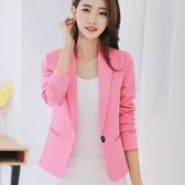 小西裝女韓版修身短版時尚長袖外套