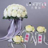 新年鉅惠 結婚拍照新娘韓式手捧花婚禮創意仿真玫瑰花球攝影婚紗照道具