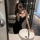 夜店女裝秋冬夜店女裝性感時尚氣質露胸緊身打底修身顯瘦包臀夜總會洋裝