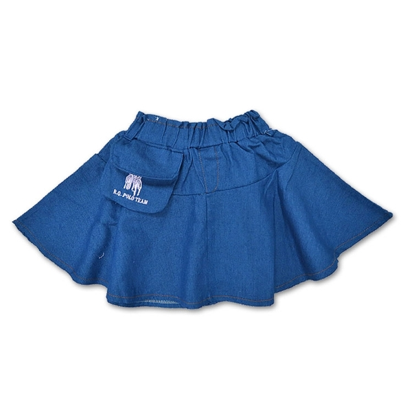 牛仔圓裙內接安全褲 牛仔短裙褲 [01278] RQ POLO 小童 5-17碼 春夏 童裝 現貨