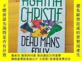 二手書博民逛書店AGATHA罕見CHRISTIE DEAD MAN S FOL