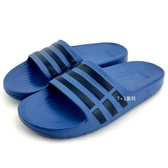 《7+1童鞋》ADIDAS DURAMO SLIDE K  超輕量防水運動拖鞋 7230 藍色