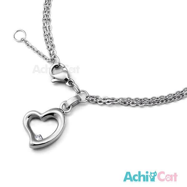鋼手鍊 AchiCat 珠寶白鋼 時尚愛心