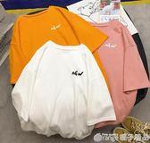 2019早春新款上衣寬鬆韓版女ins潮學生閨蜜裝夏季百搭港風短袖T恤      橙子精品