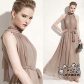大尺碼洋裝 夏裝新款女裝大碼超長款裙子淑女氣質長裙夏季雪紡連身裙 VK1688