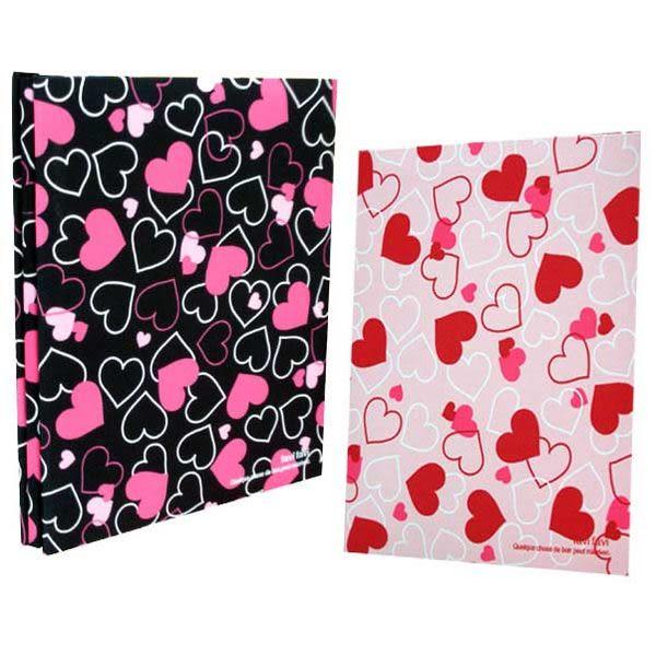 NCL 滿滿愛心百年A4布面自黏黏貼相本相簿~粉紅+黑色情侶組