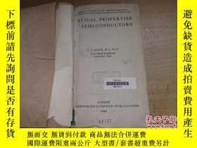 二手書博民逛書店罕見半導體光學特性(英文版)Y18429 出版1959