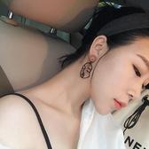 耳環 個性 雙層 人臉 輪廓 吊墜 簡約 耳釘 耳環