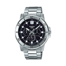 CASIO 卡西歐 手錶專賣店 MTP-VD300D-1E 指針男錶 不鏽鋼錶帶 黑色錶面 日期顯示 MTP-VD300D