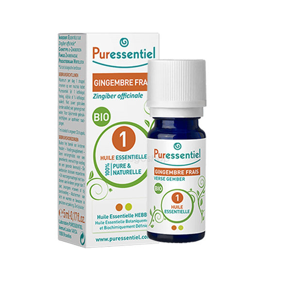 Puressentiel 歐盟BIO 生薑精油 5ML 歐盟有機認證標章