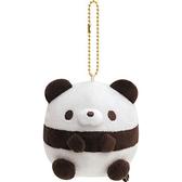 San-X 絨毛造型玩偶珠鍊吊飾娃娃 掛飾 擺飾 Panda 生活日常_XS74365