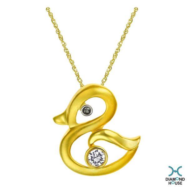 ﹝鑽石屋﹞9分鑽石套鍊 黃色小鴨項鍊 黃k金 情人節禮物DB029032