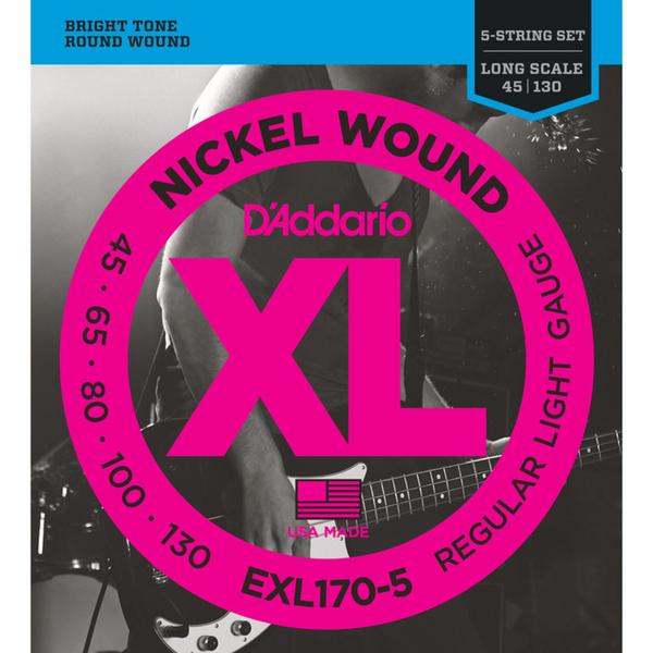 小叮噹的店 D'Addario EXL170-5 五弦貝斯弦 45-130 貝士弦 BASS弦