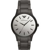 EMPORIO ARMANI 亞曼尼 現代簡約手錶-銀x灰/43mm AR11259
