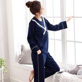 【熊貓】新款睡衣女純棉長袖圓領套頭薄款大碼家居服