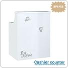 【水晶晶家具/傢俱首選】JF0836-1時尚2.7呎白色鋼琴烤漆多功能櫃台桌