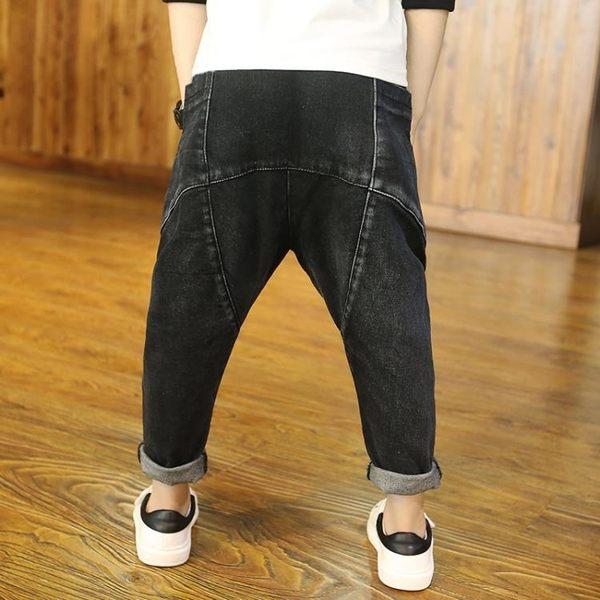 牛仔褲新款男童牛仔褲春秋款兒童潮褲子男孩哈倫褲長褲店長推薦好康八折