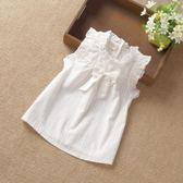 童裝夏季短袖純棉韓版女寶寶襯衫 小童公主