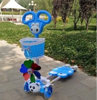 滑板車 滑板車滑行車2-6歲蛙式車滑行車4輪四輪閃光3歲4歲兒童剪刀車jy【快速出貨八折下殺】