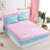 限定款鋪棉單床包/雙人素色加厚舖棉床包120x200公分席夢思/床墊保護套 床罩/床單 防滑床套保潔墊