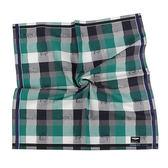 renoma paris 交錯格紋汽車路標圖文純棉帕領巾(綠色)989063-235