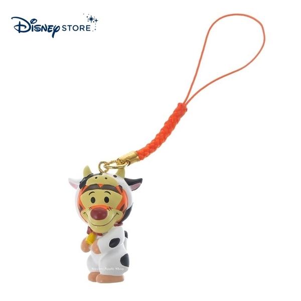 【SAS】日本限定 迪士尼商店 Disney Store 小熊維尼家族 跳跳虎 新年 牛年生肖 手機吊飾 / 公仔吊飾