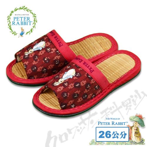 【クロワッサン科羅沙】Peter Rabbit  和風日文竹拖鞋 (紅色26CM)