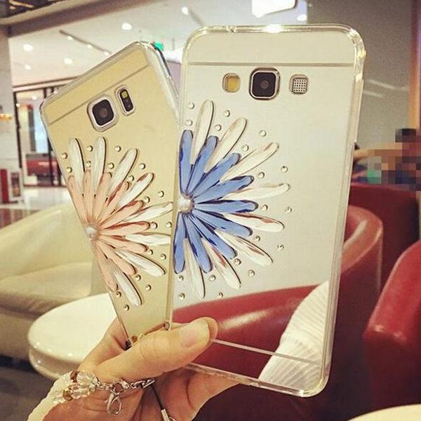 【SZ64】PP 電鍍鏡面TPU+奢華半花鑲鑽j510 三星J5手機殼 A5手機殼 A7手機殼 J7手機殼j710