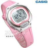 CASIO卡西歐 LW-203-4A 輕巧 10年電力 電子錶 運動錶 防水錶 女錶 童錶 銀x粉紅 LW-203-4AVDF