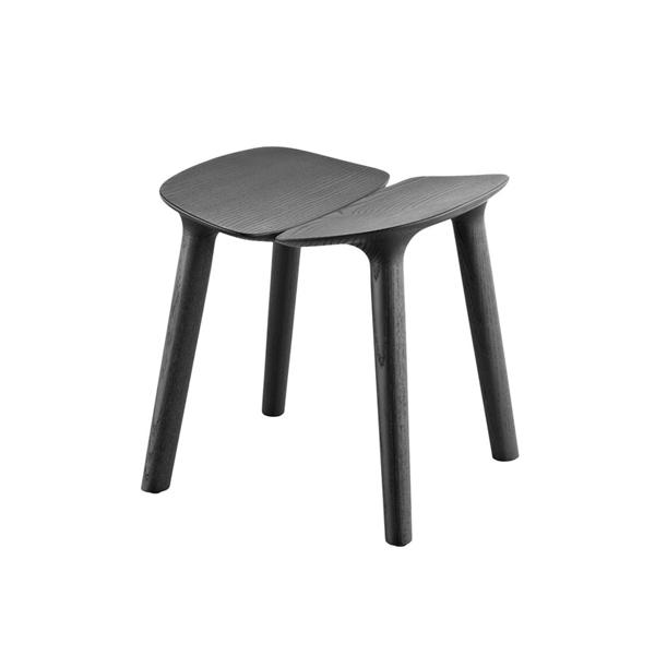 義大利 Mattiazzi MC3 Osso Wooden Stool 歐索 木質雙瓣 矮凳(黑色梣木/低尺寸)