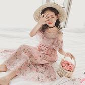 女童連身裙夏裝2018新款女孩雪紡長裙沙灘裙兒童洋氣公主裙子韓版   初見居家