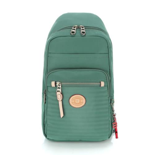 BESIDE-U 橫紋斜肩背包.雲衫綠 BKS008F16452B
