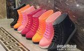 果凍雨鞋雨靴防水鞋膠鞋套鞋女學生短筒成人時尚可愛平底  朵拉朵衣櫥