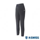 K-SWISS Logo Capri Pants棉質九分褲-女-黑