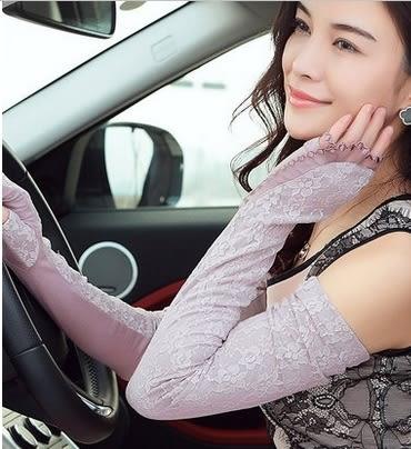 防曬手套女薄夏季長款開車防紫外線騎車防滑遮陽手套開車袖套   -amy0019