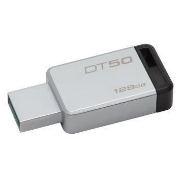 金士頓 隨身碟 【DT50/128GB】 DT50 USB 3.1 128G 黑標 無蓋式設計 金屬外殼 新風尚潮流