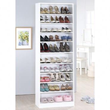 【Hopma】新十層開放鞋櫃-時尚白