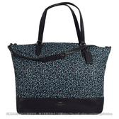 茱麗葉精品【現貨出清】COACH 59433 碎花尼龍布兩用購物托特包.深藍